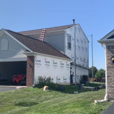 Bolingbrook (Roof siding) house wrap installed